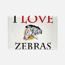 I Love Zebras Rectangle Magnet