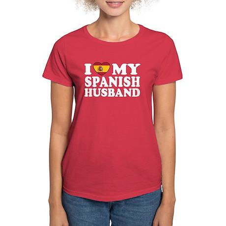 I Love My Spanish Husband Women's Dark T-Shirt