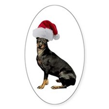 Manchester Terrier Christmas Oval Decal