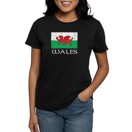 Wales Flag Women's Dark T-Shirt