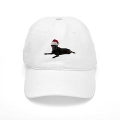 Black Lab Christmas Baseball Cap