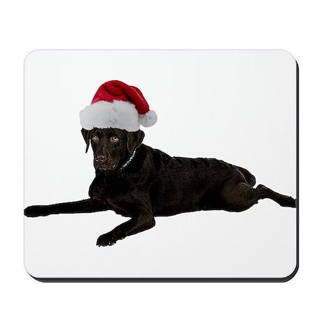 Black Lab Christmas Mousepad