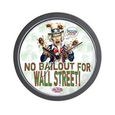 No Bailout for Wall Street Wall Clock
