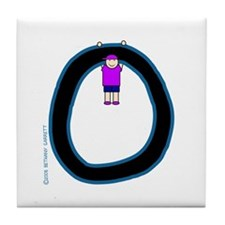 O (Boy) Tile Coaster