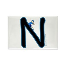 N (Boy) Rectangle Magnet