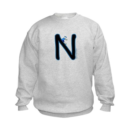 N (Boy) Kids Sweatshirt