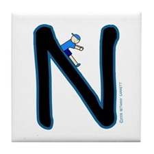 N (Boy) Tile Coaster