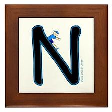 N (Boy) Framed Tile