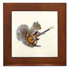 Squirrel Guitar Framed Tile