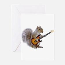 Squirrel Guitar Greeting Cards (Pk of 10)