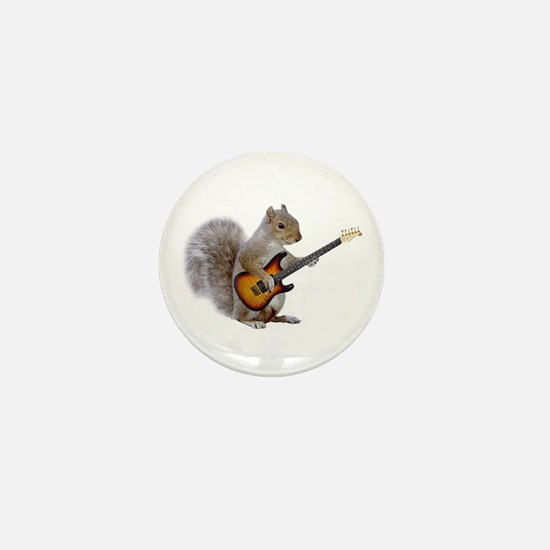 Squirrel Guitar Mini Button