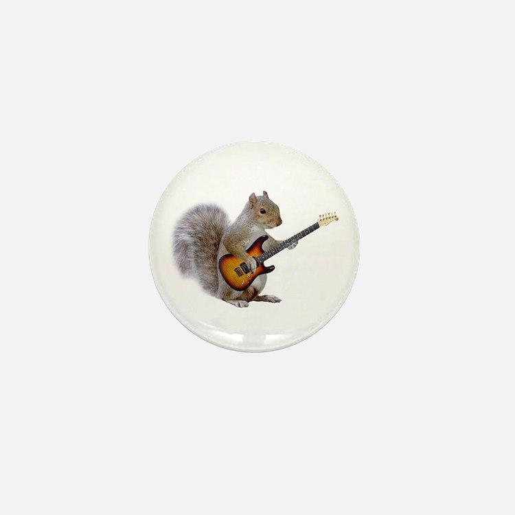 Squirrel Guitar Mini Button