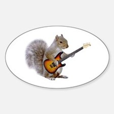 Squirrel Guitar Oval Decal