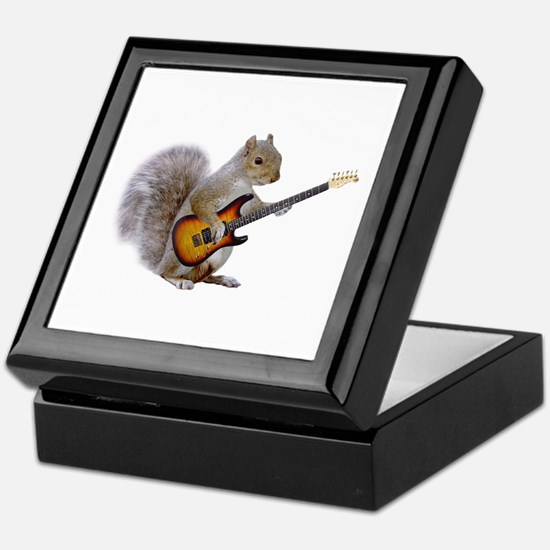 Squirrel Guitar Keepsake Box