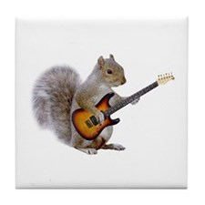 Squirrel Guitar Tile Coaster