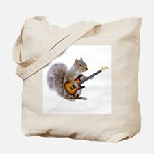 Squirrel Guitar Tote Bag