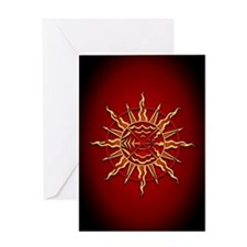 Spiritual Native Art Greeting Card Wheel of Life