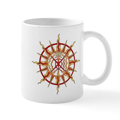 Native Art Mug Cup Wheel of Life Sun Cup