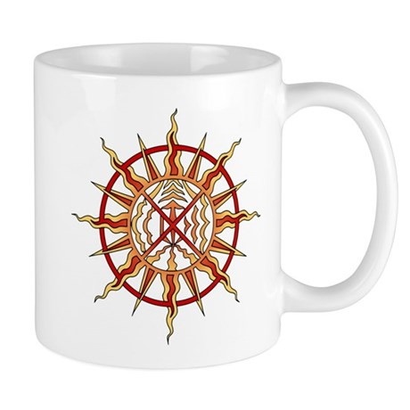 Native Art Mug Cup Wheel of Life Sun Cup