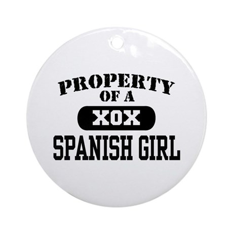 Property of a Spanish Girl Ornament (Round)