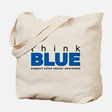 think BLUE Tote Bag
