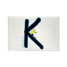 K (Boy) Rectangle Magnet