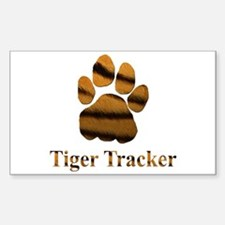 Tiger Tracker Rectangle Decal