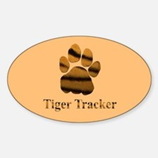 Tiger Tracker Oval Decal