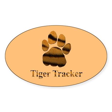Tiger Tracker Oval Sticker