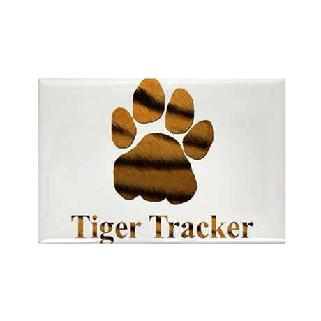 Tiger Tracker Rectangle Magnet