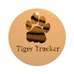 Tiger Tracker Ornament (Round)