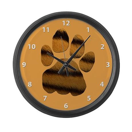 Tiger Tracker Large Wall Clock