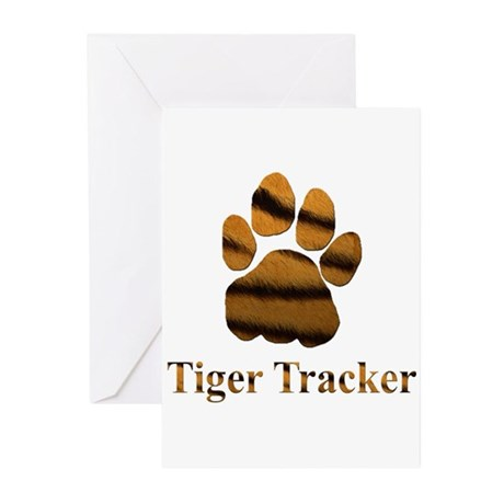 Tiger Tracker Greeting Cards (Pk of 10)