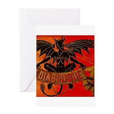 Halloween Devil Greeting Card