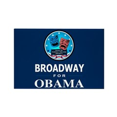 BROADWAY FOR OBAMA Rectangle Magnet (100 pack)