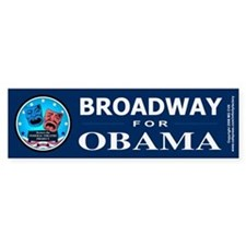 BROADWAY FOR OBAMA Bumper Stickers