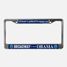 BROADWAY FOR OBAMA License Plate Frame