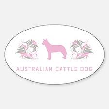 """Elegant"" Australian Cattle Dog Oval Decal"