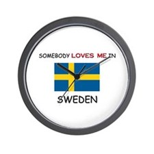 Somebody Loves Me In SWEDEN Wall Clock
