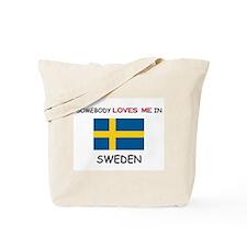 Somebody Loves Me In SWEDEN Tote Bag