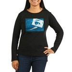 Chain Eye Women's Long Sleeve Dark T-Shirt