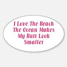 Love the Beach Oval Decal