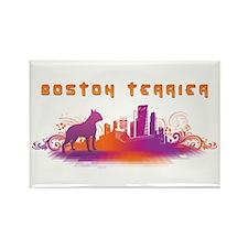 """""""City"""" Boston Terrier Rectangle Magnet"""