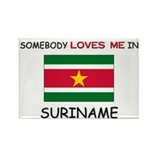 Somebody Loves Me In SURINAME Rectangle Magnet