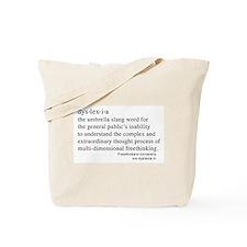 Dyslexia definition Tote Bag
