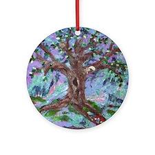 Cute Fiber art Ornament (Round)