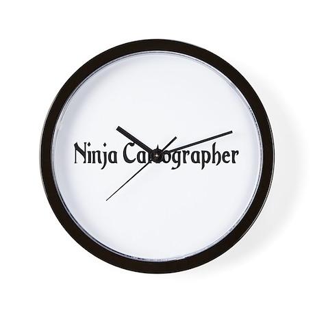 Ninja Cartographer Wall Clock