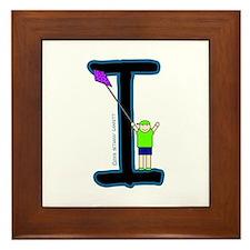 I (Boy) Framed Tile
