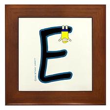 E (Boy) Framed Tile