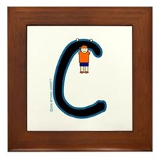 C (Boy) Framed Tile